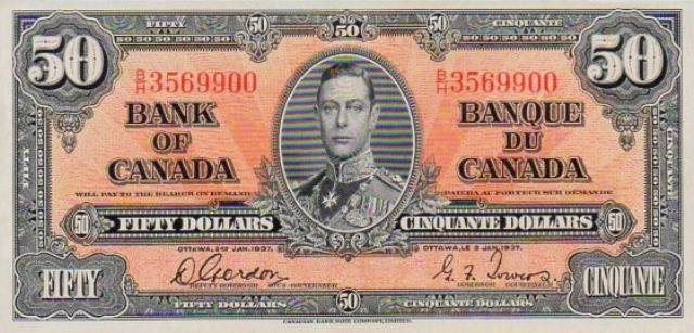 Old 50 Dollar Bill Canada Value - New Dollar Wallpaper HD
